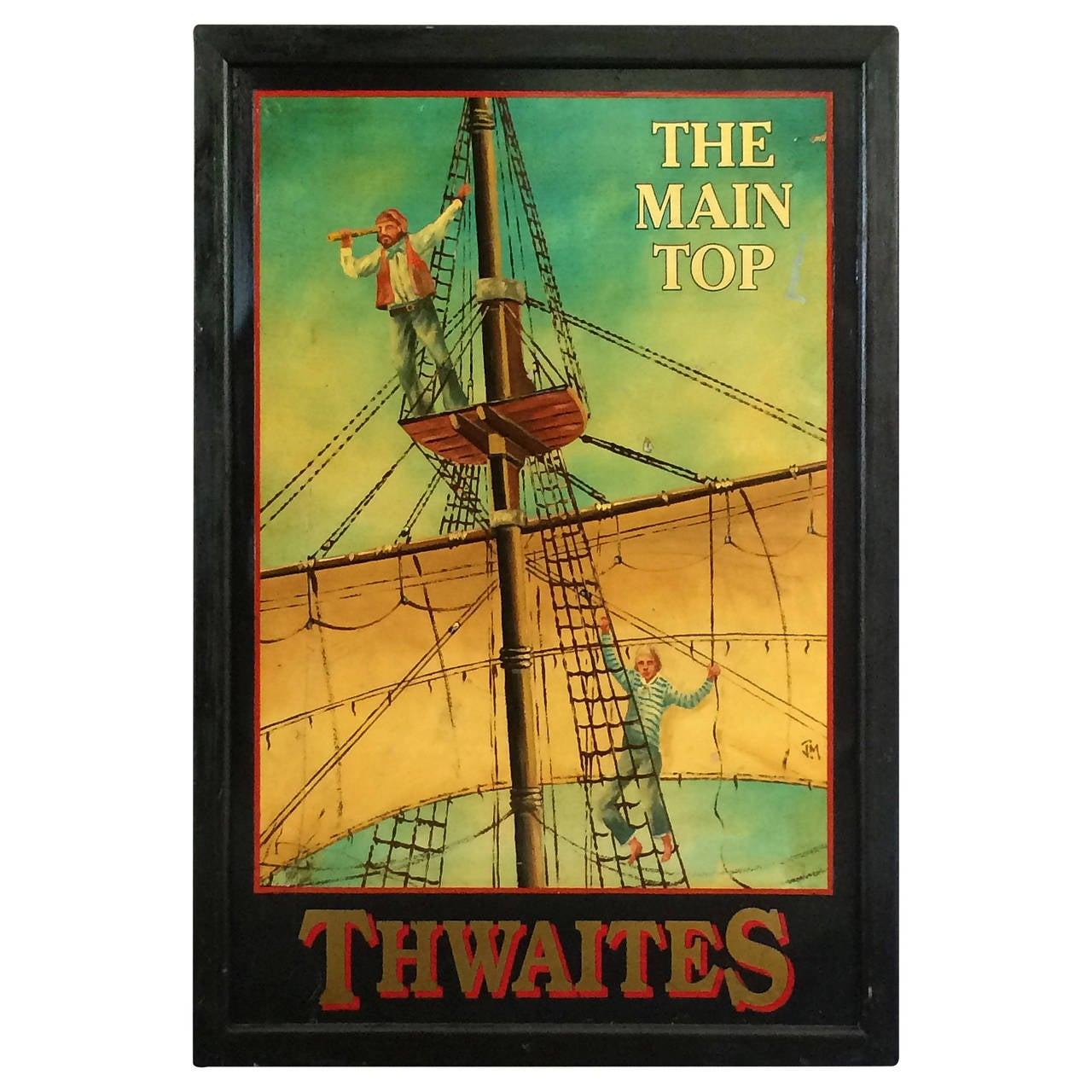 English Pub Sign, The Main Top, Thwaites