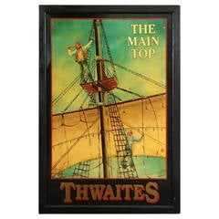English Pub Sign, The Main Top, Thwaites