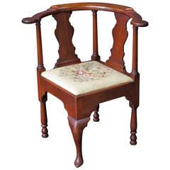 English Corner Chair from the Georgian Era