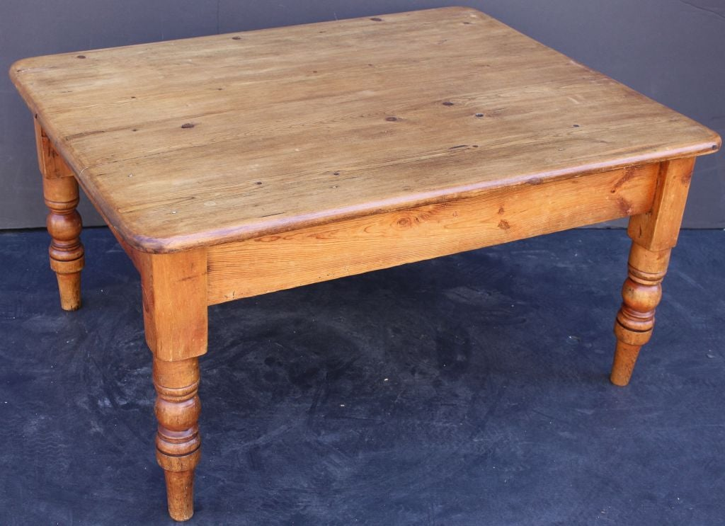 English Country Pine Low Table At 1stdibs