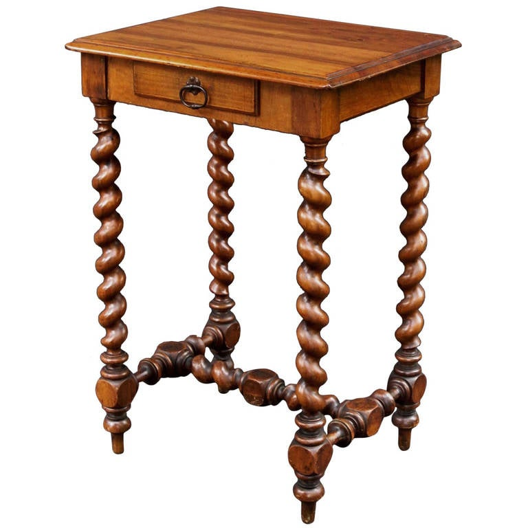 French Barley Twist Side Table At 1stdibs