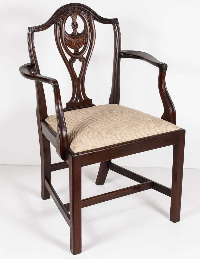Set Of Eight English Hepplewhite Style Chairs At 1stdibs