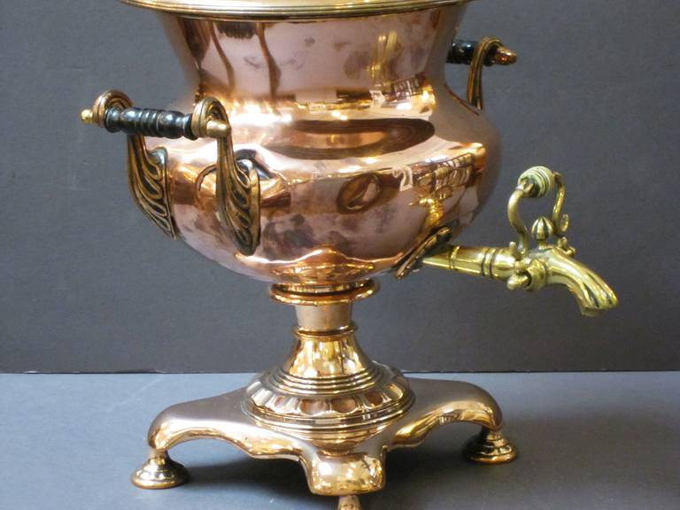 French Copper and Brass Samovar or Tea Urn 2