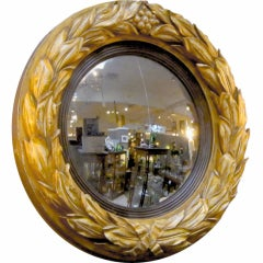Gilt Convex Mirror from the Regency Era
