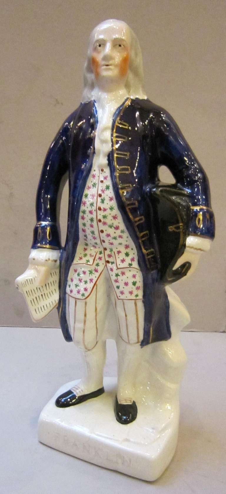 H Pugh Pottery Staffordshire Figure o...