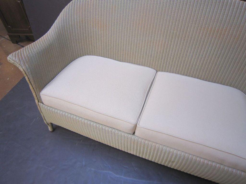 English Wicker Garden Sofa By Lloyd Loom At 1stdibs