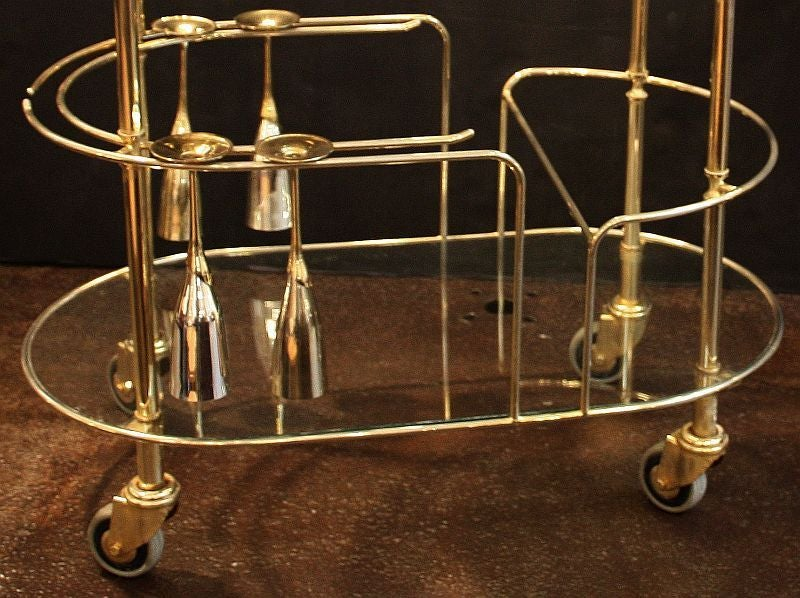 Art Deco Champagne Bar Cart by Pommery For Sale 5