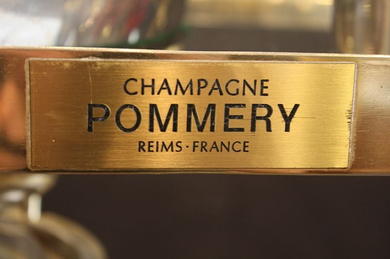 Art Deco Champagne Bar Cart by Pommery For Sale 2