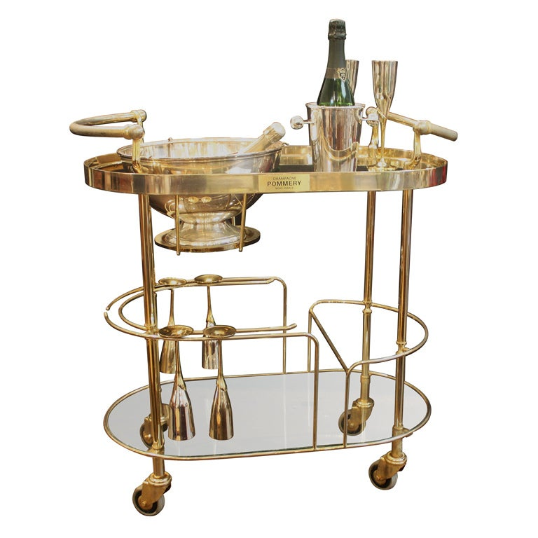 Art Deco Champagne Bar Cart By Pommery At 1stdibs