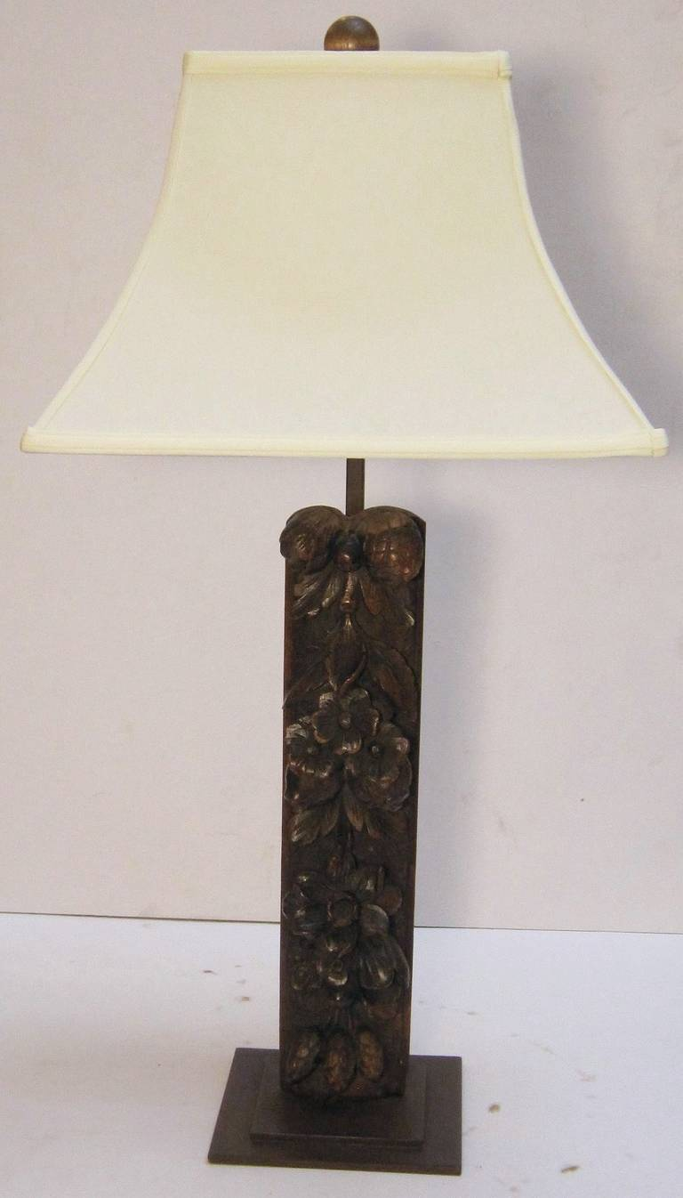 this carved wooden table lamp with shade is no longer available. Black Bedroom Furniture Sets. Home Design Ideas