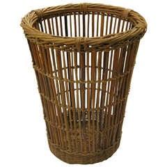 Tall English Willow Basket