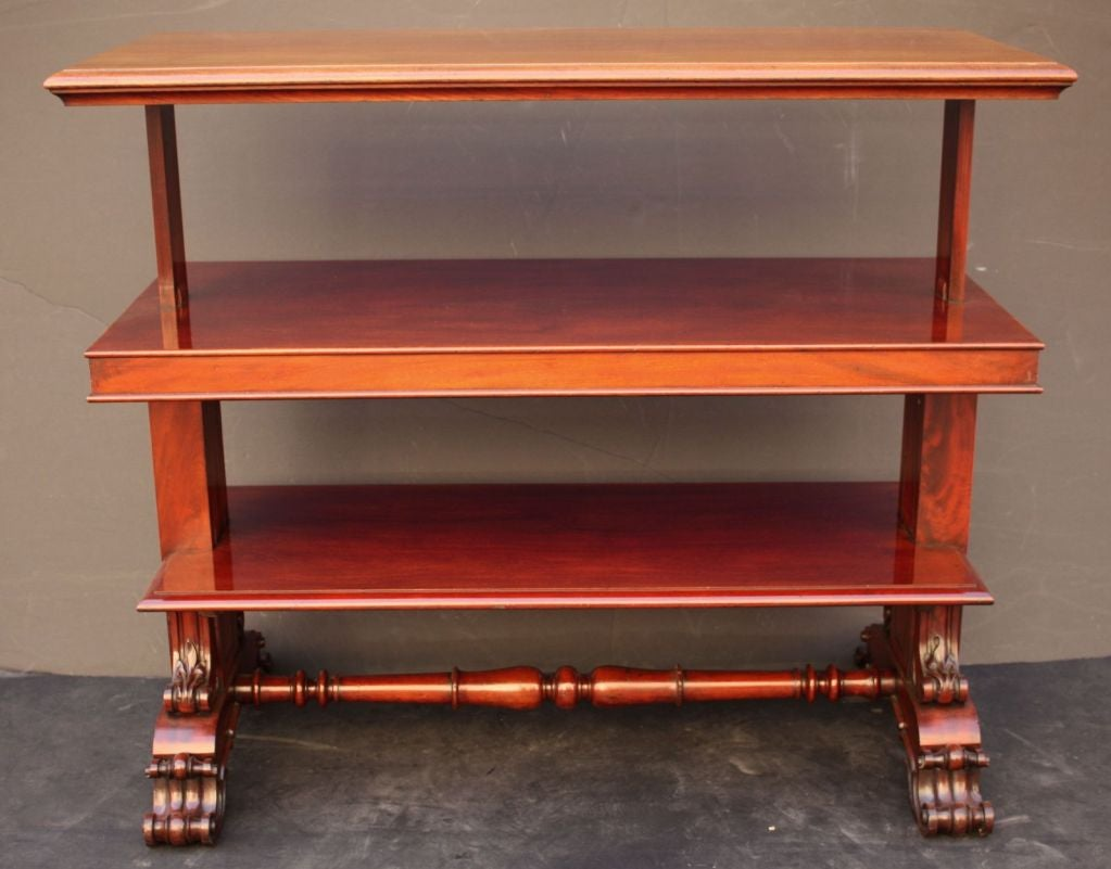 19th Century English Telescoping Buffet Server or Table in Mahogany For Sale