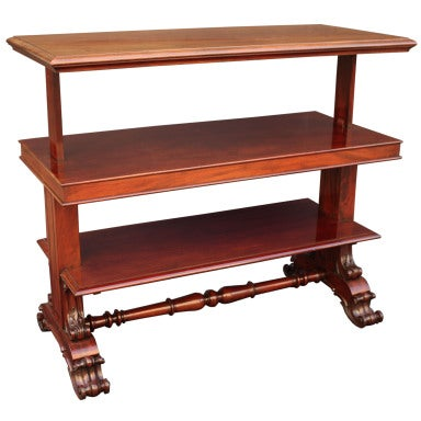 English Telescoping Buffet Server or Table in Mahogany