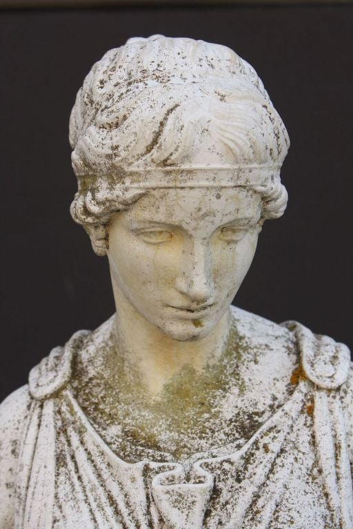 English Garden Stone Maiden By R V Papinia At 1stdibs