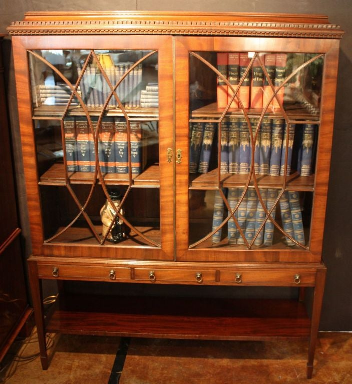 Edwardian Era Bookcase Of Mahogany From Scotland 2