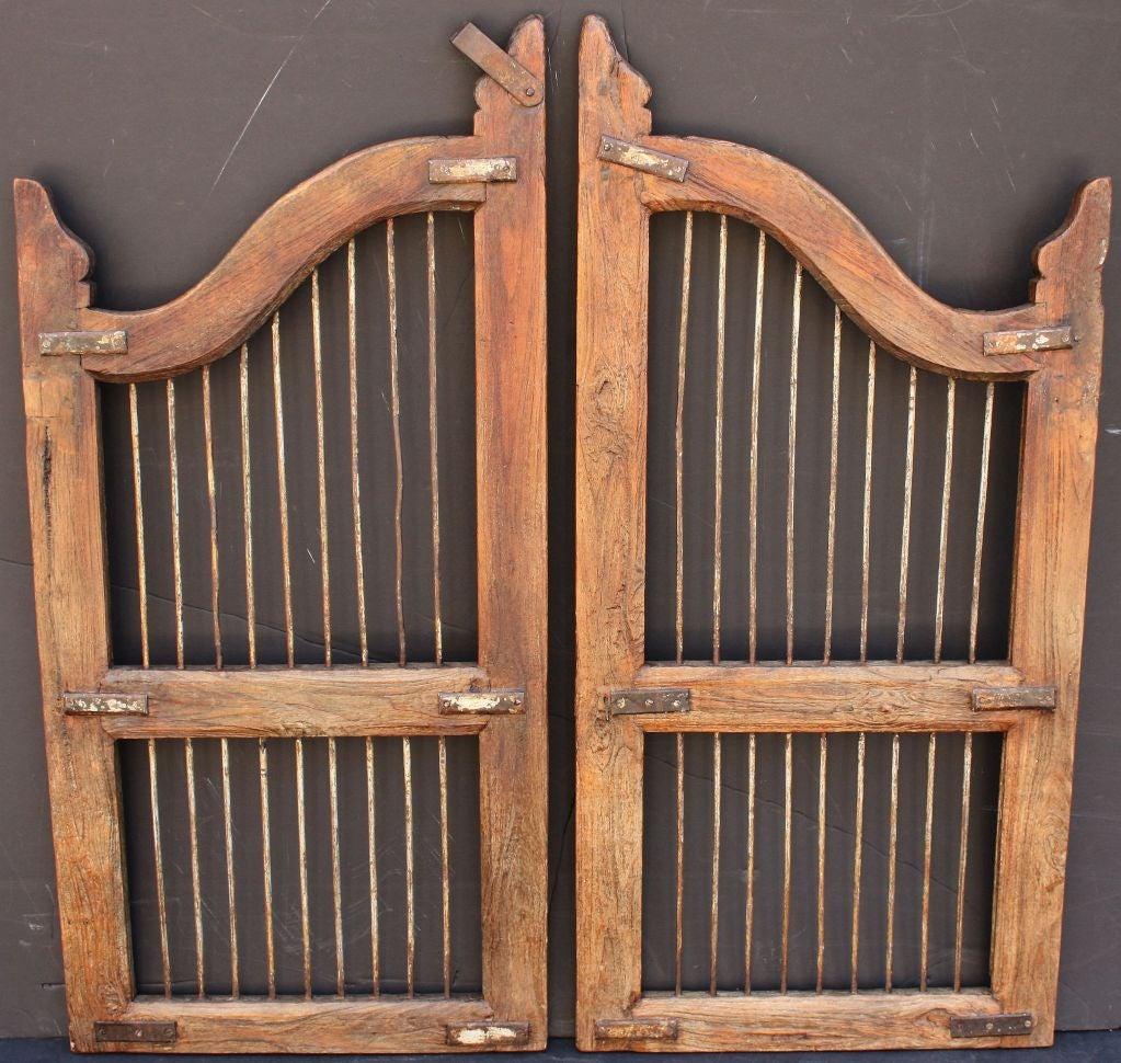 Pair of Wooden Gates (Dog Gates) at 1stdibs