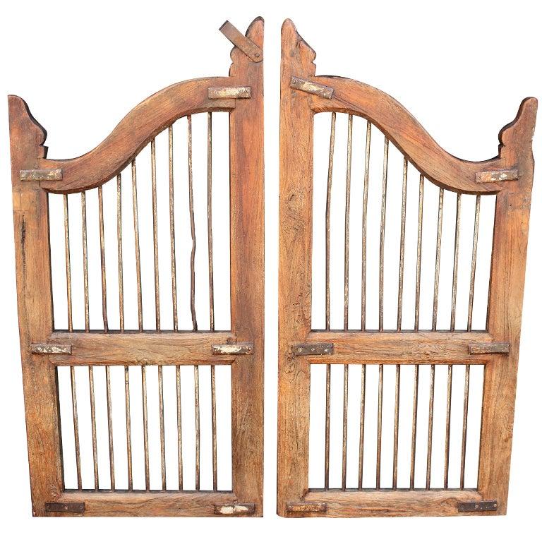 Pair Of Wooden Gates Dog Gates At 1stdibs