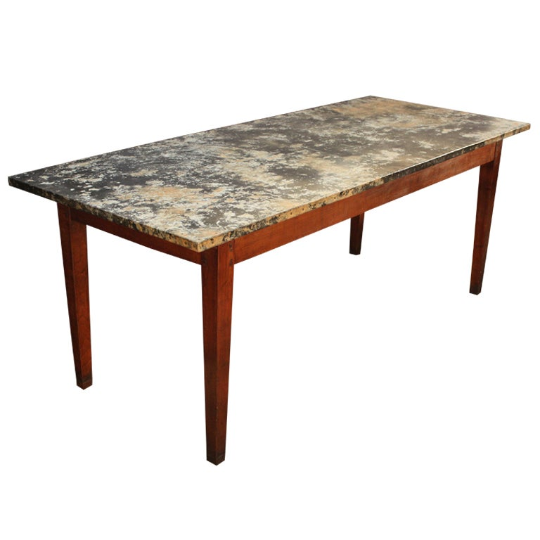 Zinc Dining Table French