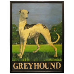English Pub Sign, Greyhound