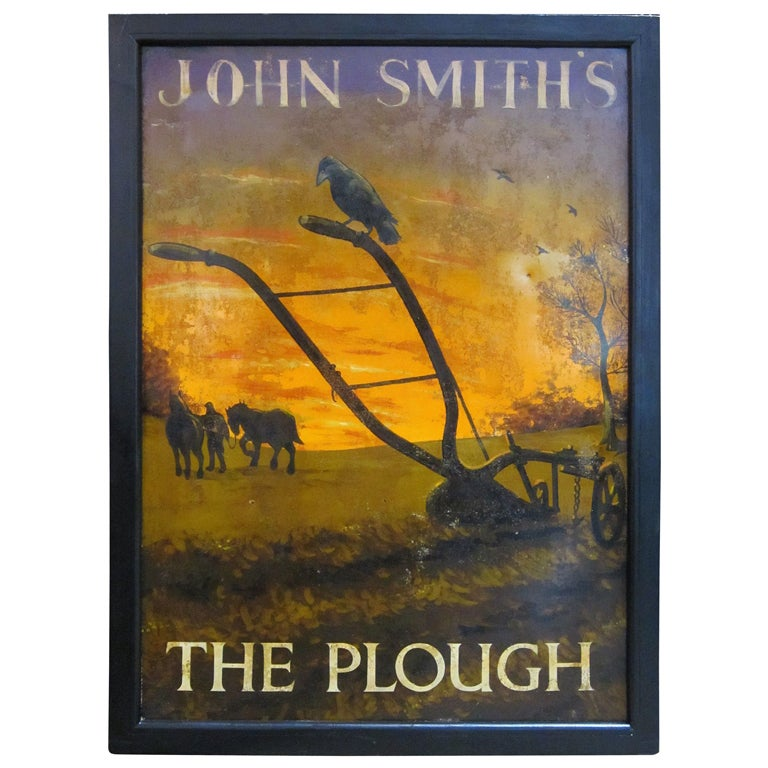 English Pub Sign John Smith S The Plough At 1stdibs