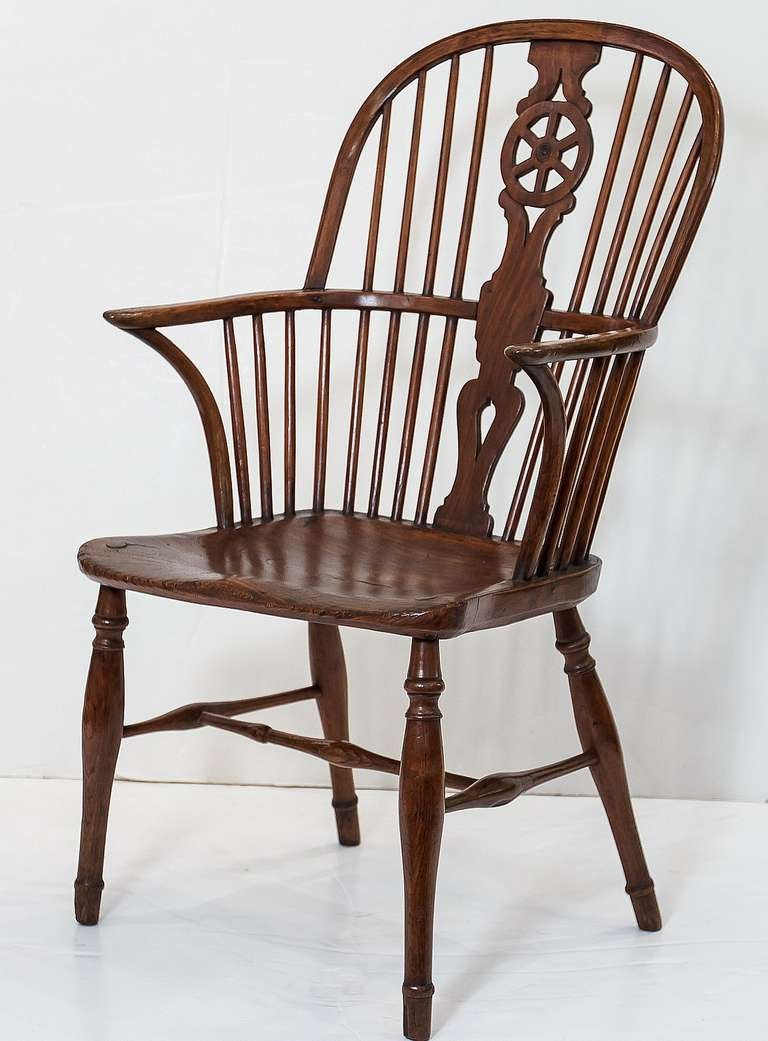 English Windsor Chair With Wheel Back At 1stdibs