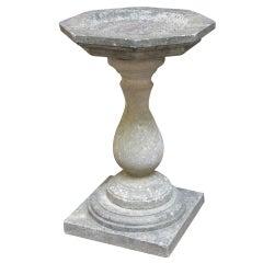 Small English Garden Stone Bird Bath