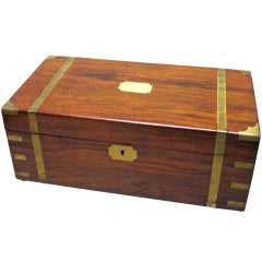 English Writing Box with Secret Compartment