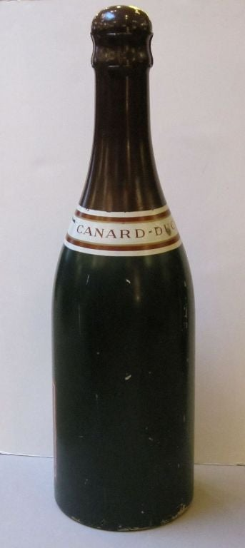 Large French Champagne Wine Bottle Advertising Prop For