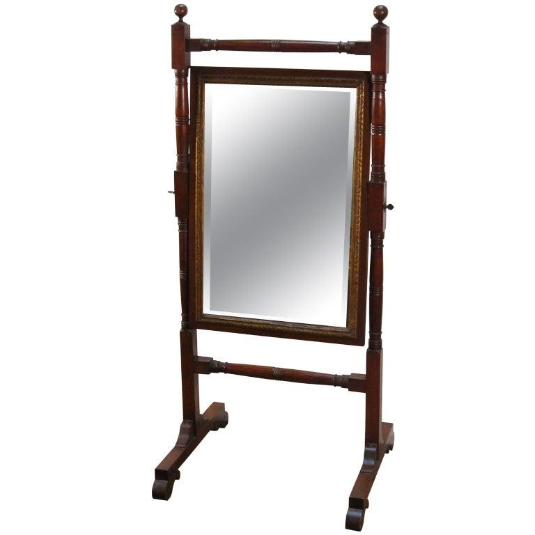 Cheval Mirror from the Regency Era
