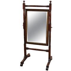 Cheval Mirror of Mahogany from Regency Era England