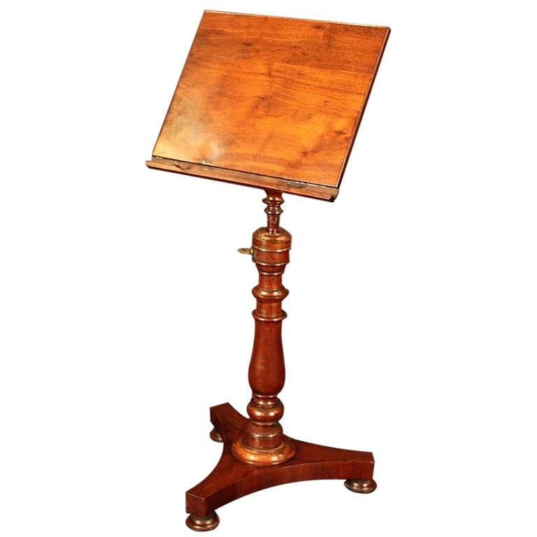 regency music stand of mahogany for sale at 1stdibs. Black Bedroom Furniture Sets. Home Design Ideas
