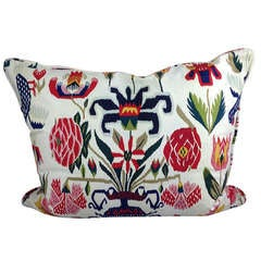 Pillow Made from Fabric with 18th Century Print Sweden