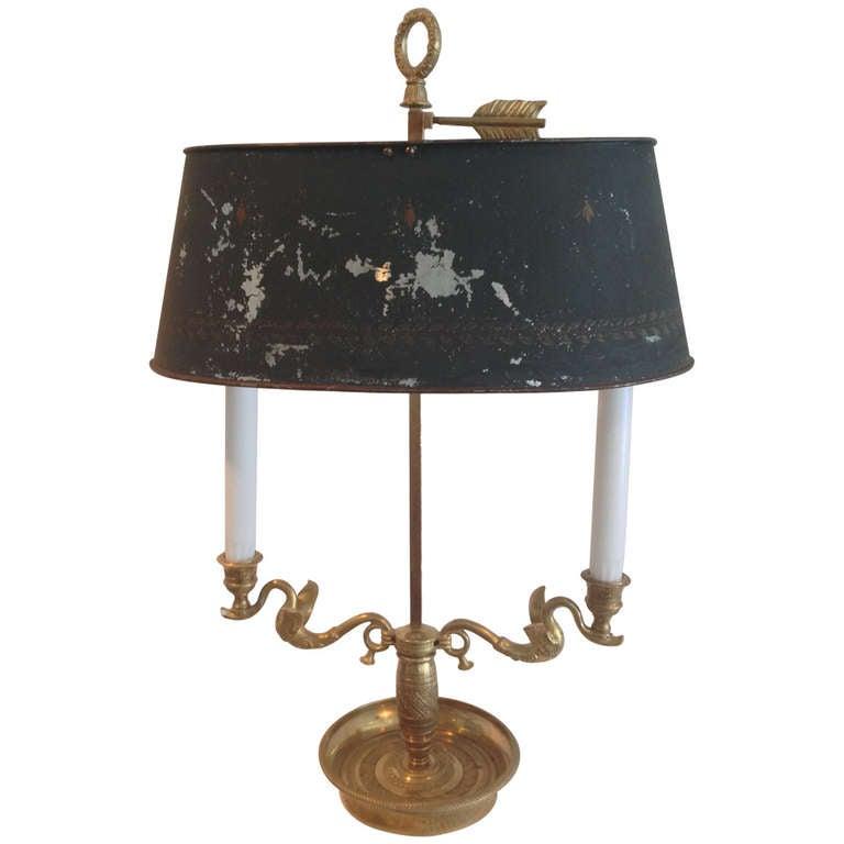 A Neoclassical Bouillotte Lamp