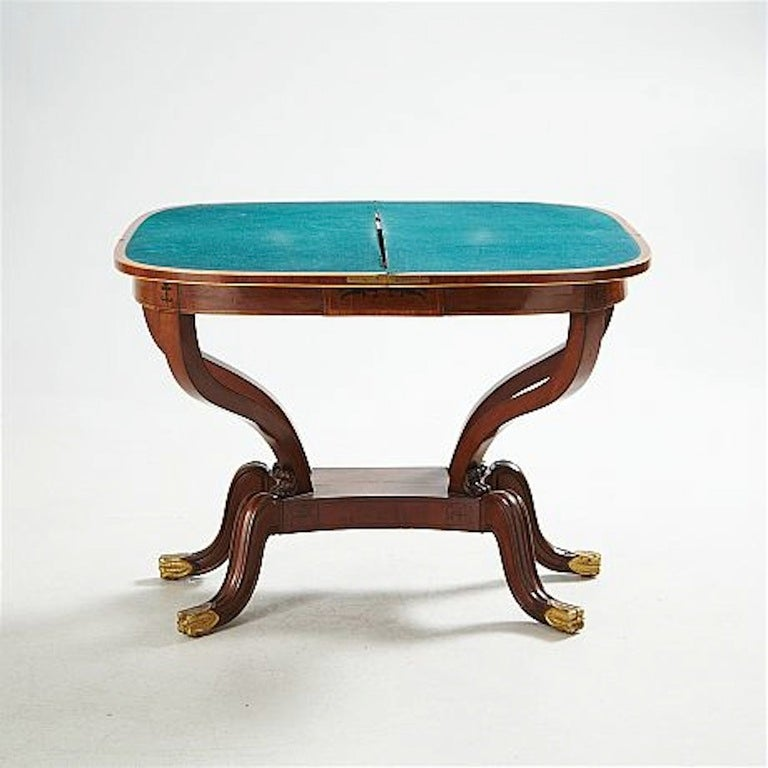 French  Empire Game Table  For Sale