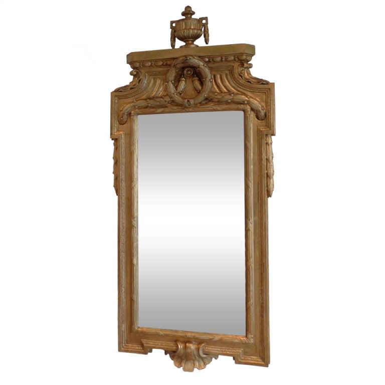 Gustavian Gilded Mirror Attributed Johan Åkerbald
