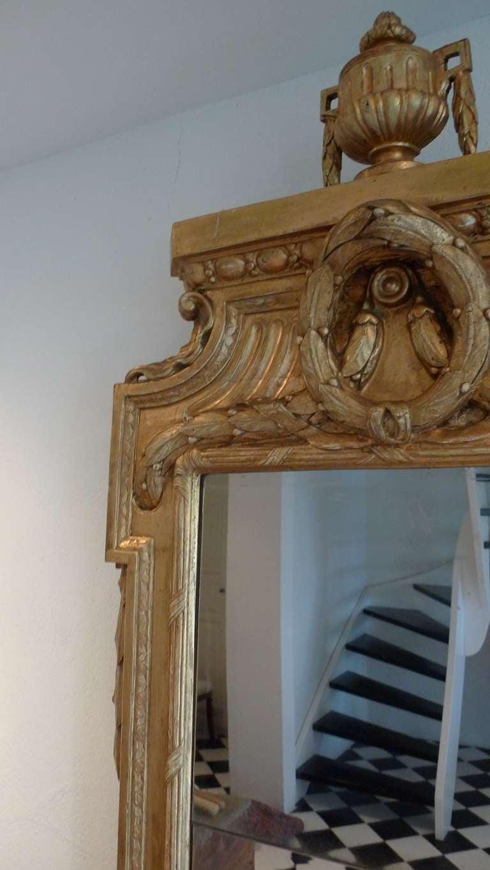 Swedish Gustavian Gilded Mirror Attributed Johan Åkerbald