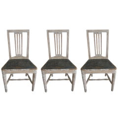 Set of 3 Gustavian Side Chairs