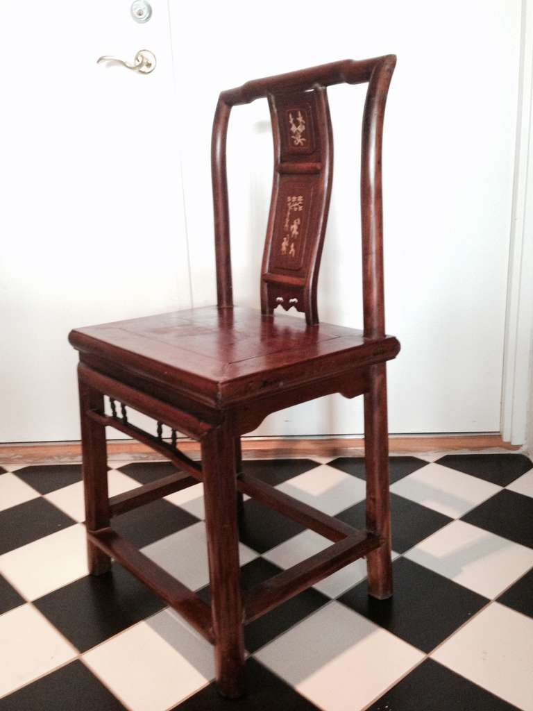 Chinese Chippendale A Set of 4 Chinese Wedding Chairs For Sale