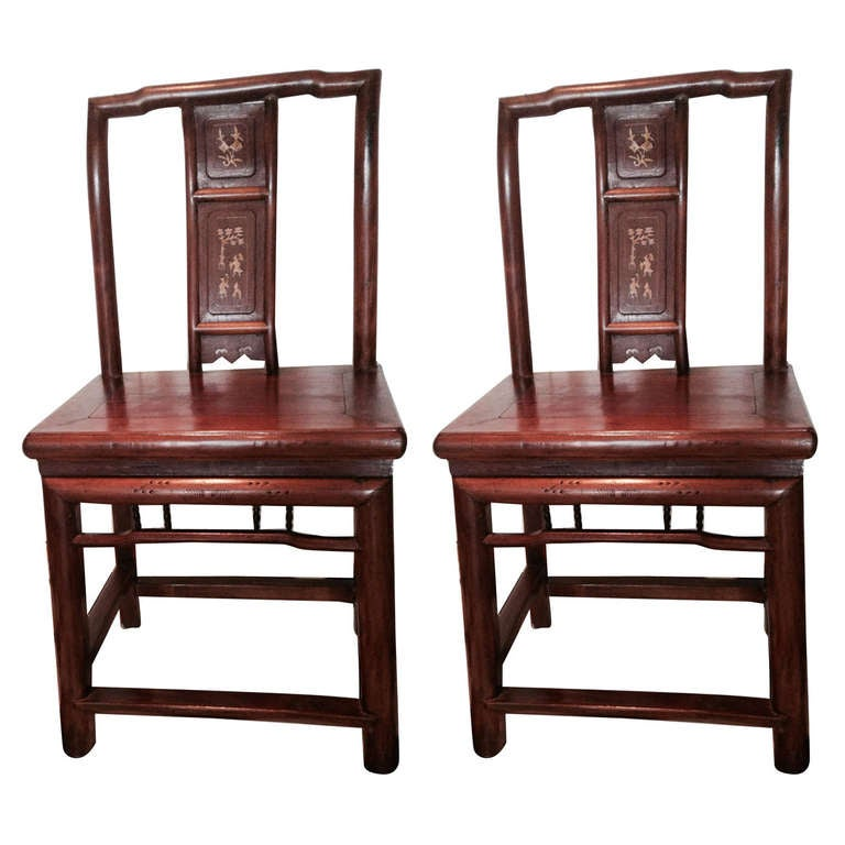 A Set of 4 Chinese Wedding Chairs For Sale