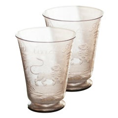 A Pair of 17th Century Kungsholm Glasses