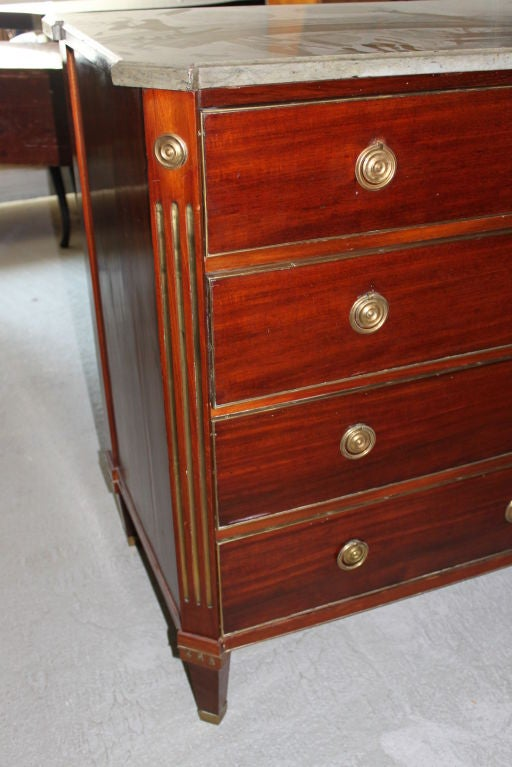A Swedish Late Gustavian Mahogany Chest In Good Condition For Sale In New York, NY