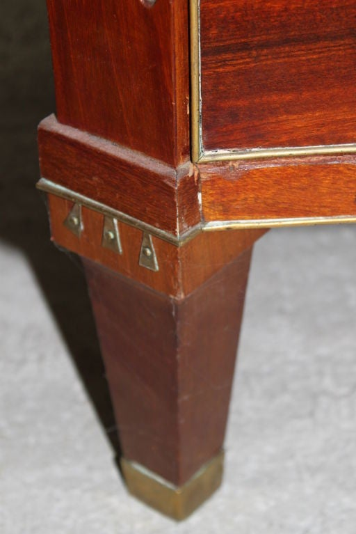 A Swedish Late Gustavian Mahogany Chest For Sale 5