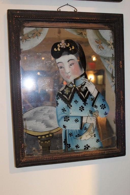 Pair of Paintings 18th Century China 3