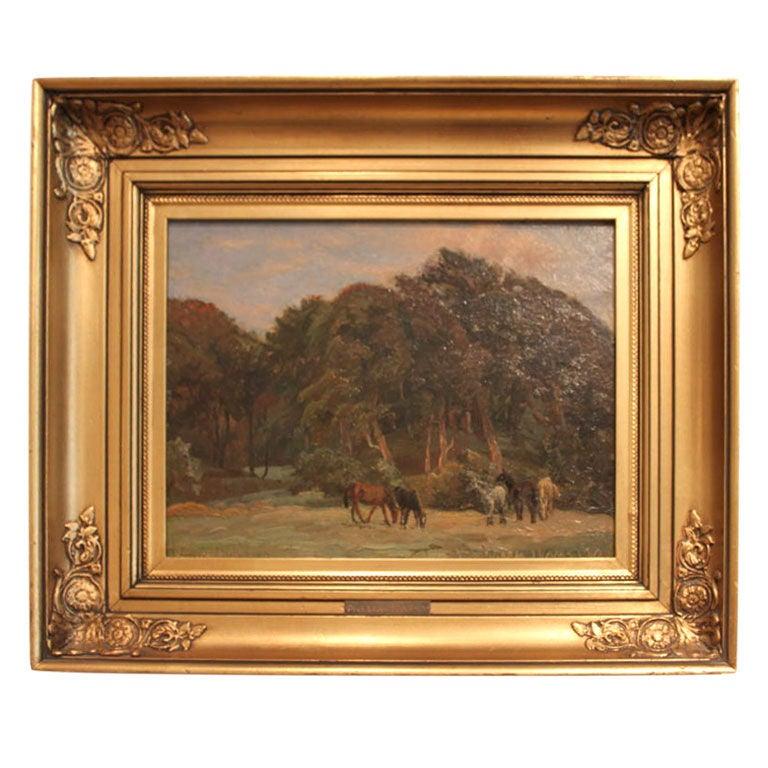 Danish Landscape Painting Viggo Pedersen (1854-1926) 1