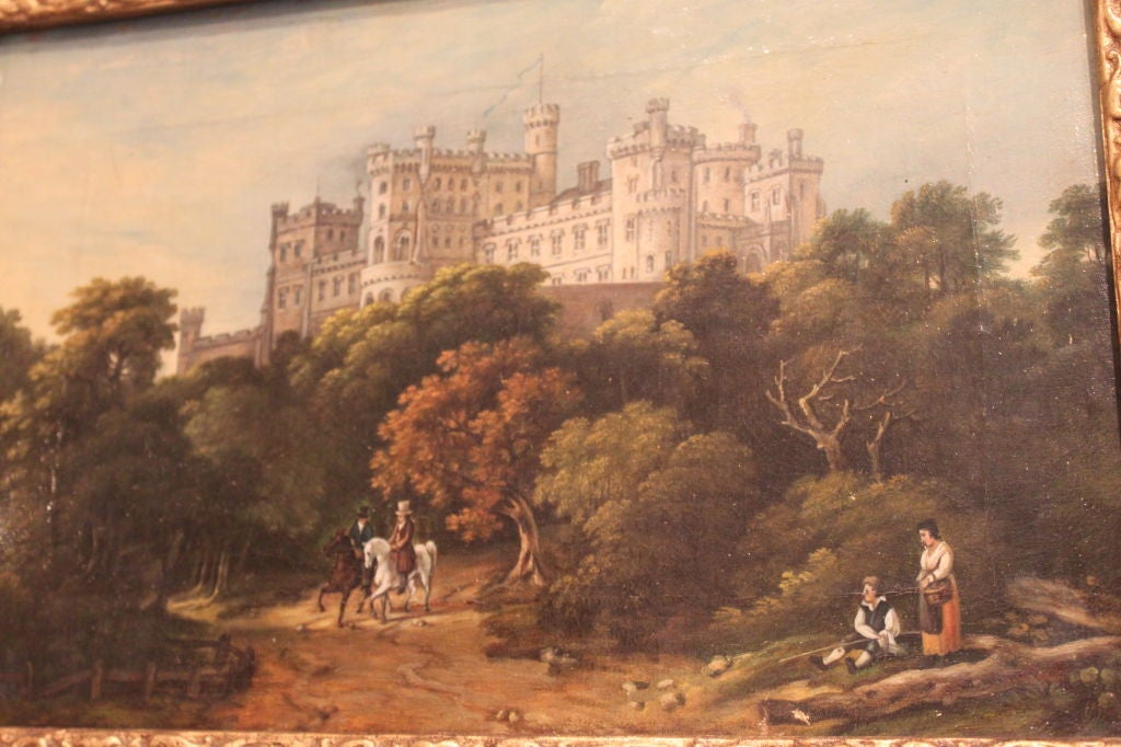 An English Landscape oil painting from 19th Century