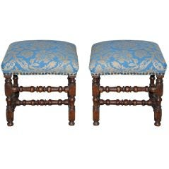 Stools Swedish Baroque Oak 18th Century Sweden
