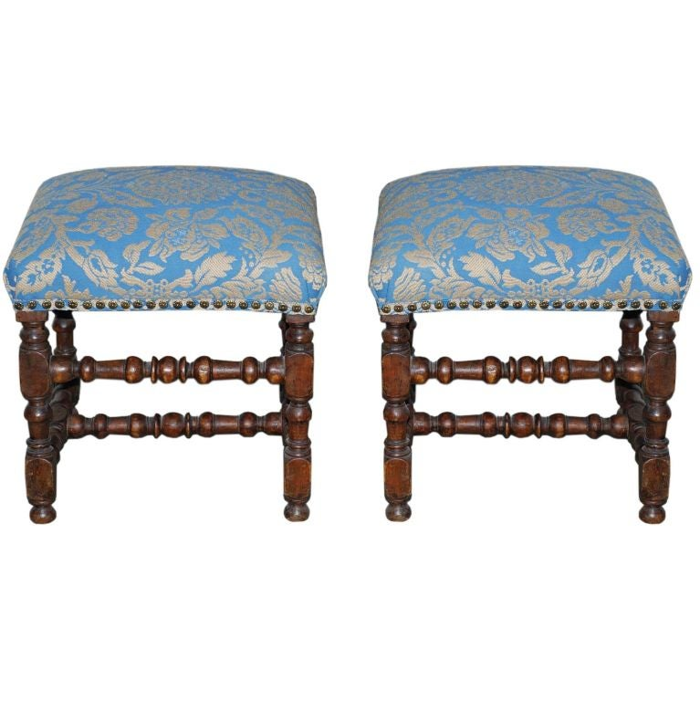 A pair of Swedish Baroque Stools 1