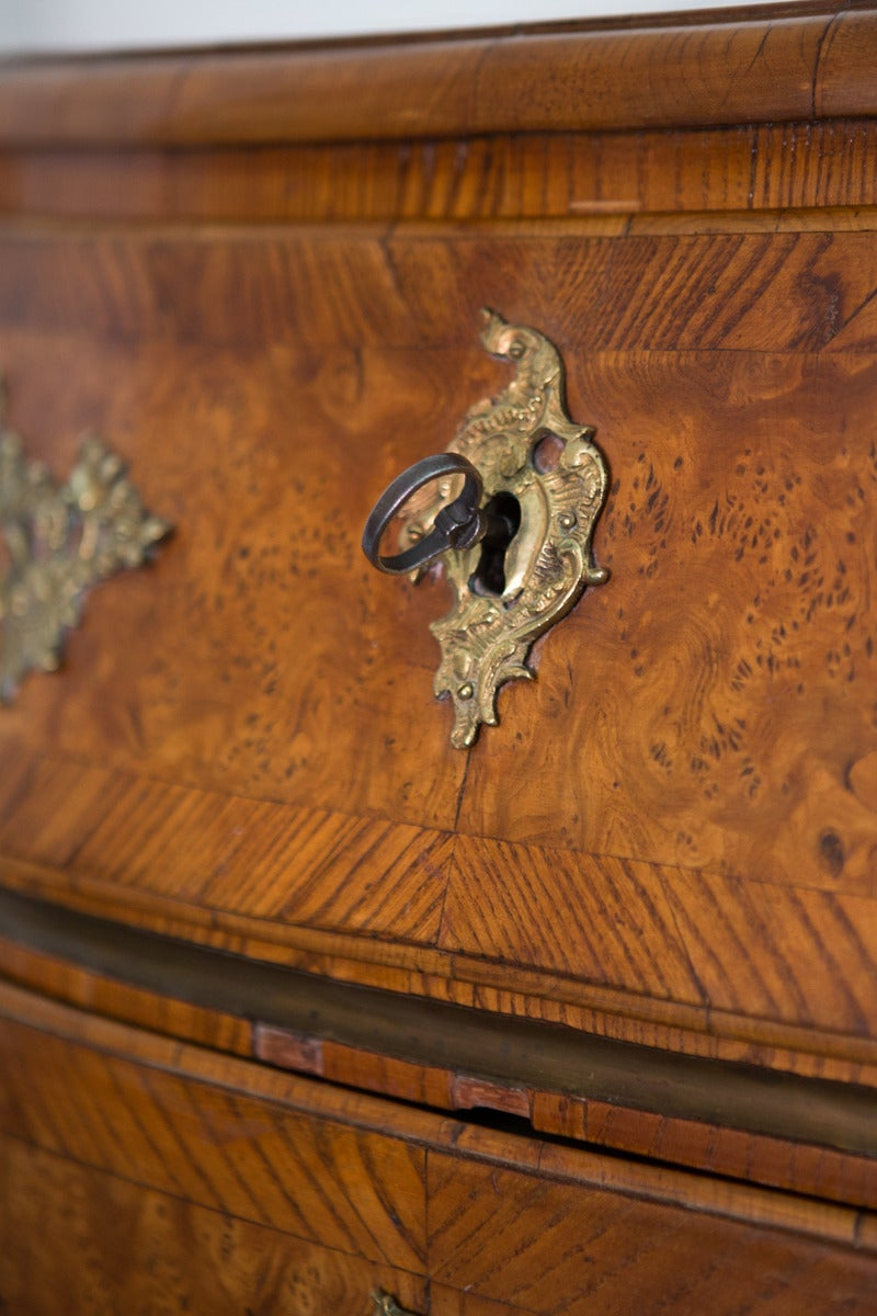 Swedish Rococo Chest of Drawers with Brass Hardware 8