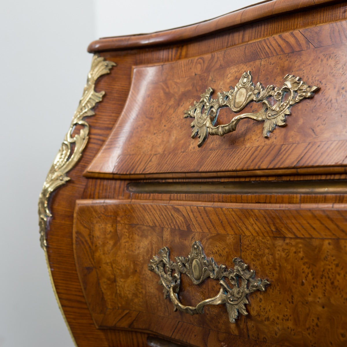 Swedish Rococo Chest of Drawers with Brass Hardware 9