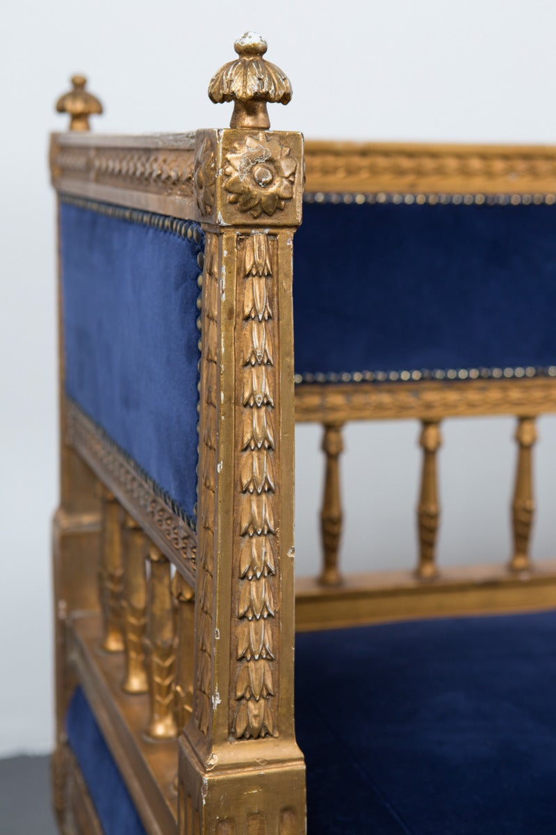 Sofa Swedish Gilded Gustavian or Neoclassical, 18th Century, Sweden For Sale 3